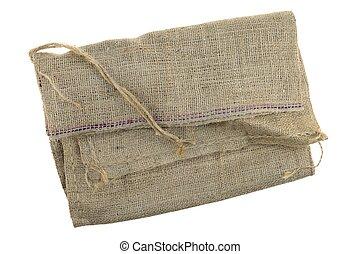 Hessian Bag - A close up shot of a hessian bag