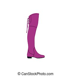 Hessian boots icon. Flat color design. Vector illustration.