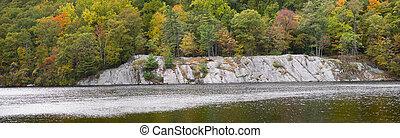 Hessian Lake Panorama - A panoramic view of Hessian Lake at...