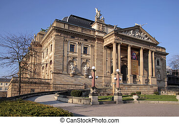 Hessian State Theatre in Wiesbaden, Hesse, Germany
