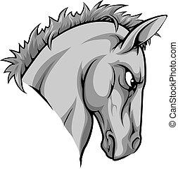 hest, karakter, mascot