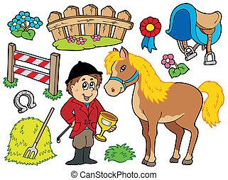 hest, samling