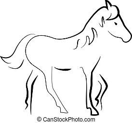 hest, silhuet