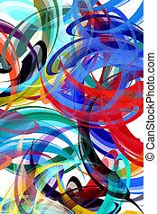 het abstracte schilderen, achtergrond, gestyleerd