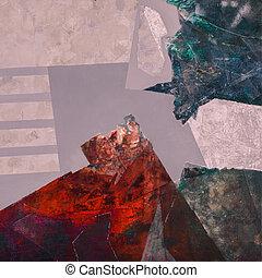 het abstracte schilderen, acryl, doek