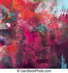 het abstracte schilderen