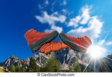 het beklimmen van de berg, concept