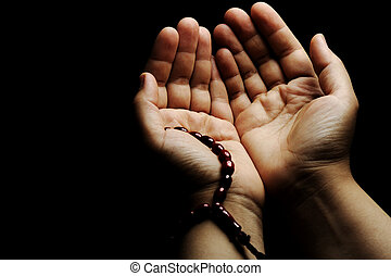 het bidden hands