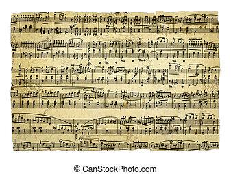 het blad van de muziek, pagina