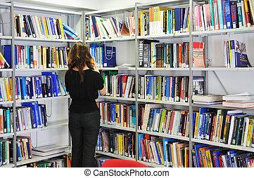 het boek van de bibliotheek