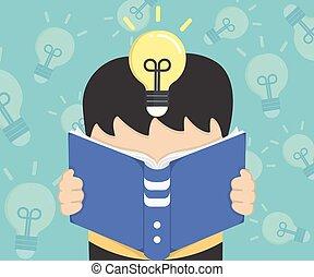 het boek van de lezing, illustratie