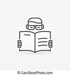 het boek van de lezing, man