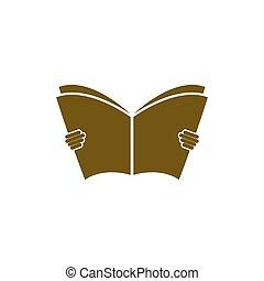 het boek van de lezing, pictogram