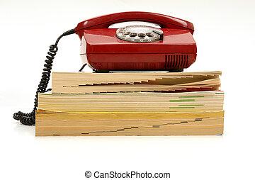 het boek van de telefoon