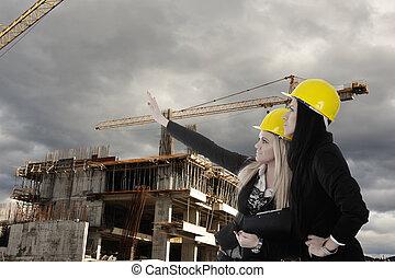 het bouwwerk, bouwterrein