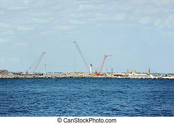 het bouwwerk, van, porto, terminal