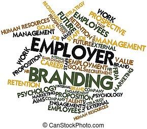 het brandmerken, werkgever