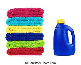 het detergens van de wasserij