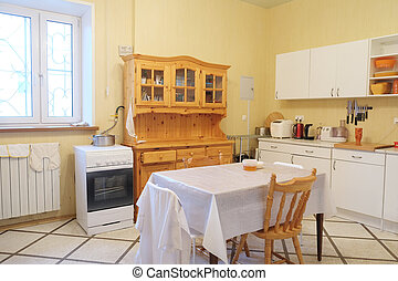 het dineren, moderne kamer