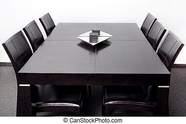 het dineren, moderne, tafel