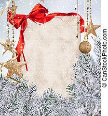 het document van kerstmis