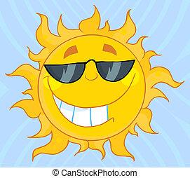 het dragen van schaduwen, zon, koel
