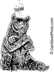 het dragen van zonnebril, beer