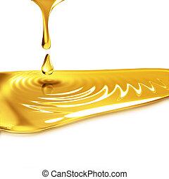 het droppelen, olie
