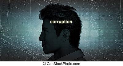 het ervaren, corruptie, man