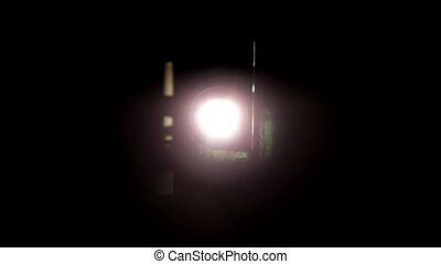 het flakkeren, licht, projector