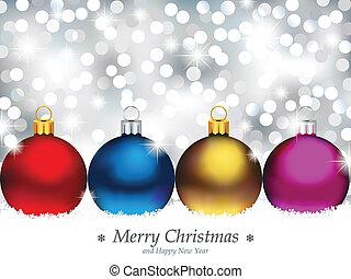het fonkelen, achtergrond, met, kerstmis