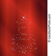 het fonkelen, boompje, kerstmis, achtergrond