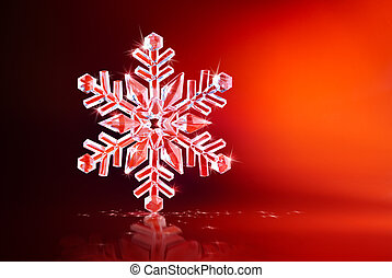 het fonkelen, sneeuwvlok