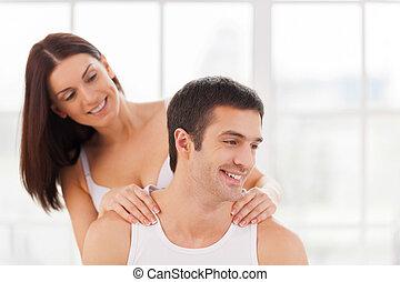 paar erotische massage mooi