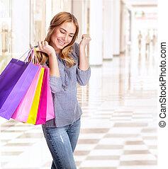 het genieten van, shoppen