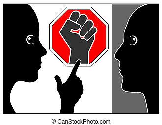 het geweld van het einde, huiselijk misbruik