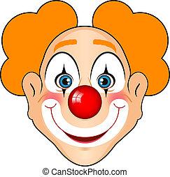 het glimlachen, clown