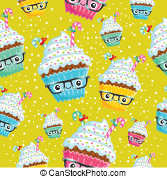 het glimlachen, cupcake