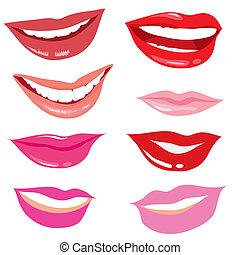 het glimlachen, lippen