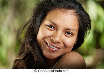 het glimlachen meisje, headshot, teeth