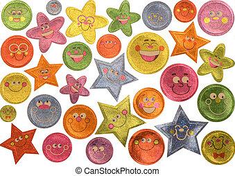 het glimlachen, stickers