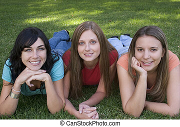 het glimlachen, vrouwen