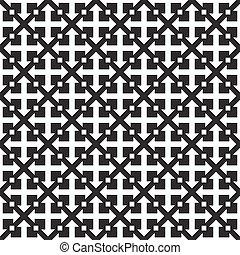 het herhalen, vector, pattern., geometrisch, seamless