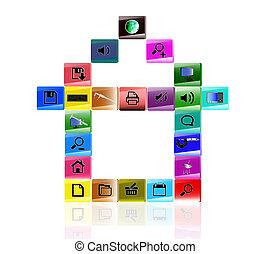 het internet, iconen