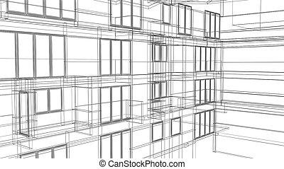 het kader van de draad, architecturaal, achtergrond