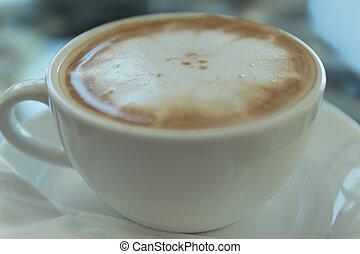 het kaffe, kopp, på, grunge, bakgrund
