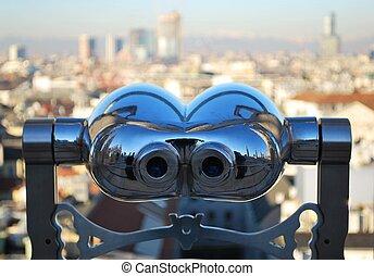 het kijken, milaan, telescoop