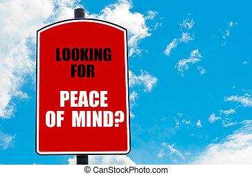 het kijken, mind?, vrede