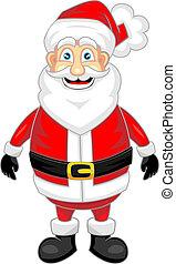 het kijken, schattig, claus, kerstman, vrolijke