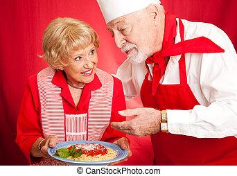 het koken, les, grandmas